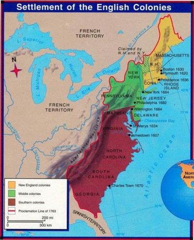 Settlement of the English Colonies