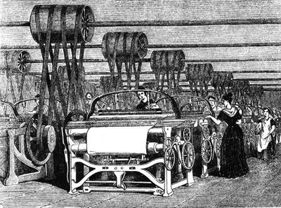 Steam-powered looms were just one of the innovations of the Industrial Revolution